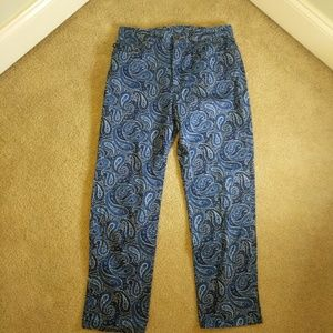 Lauren Ralph Lauren cotton pants Paisley pattern 8